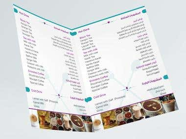 ARABIC / Bi-LINGUAL MENU DESIGN