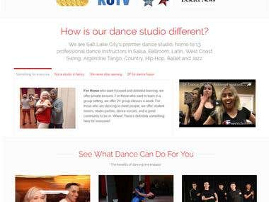 Website for DF Dance Studio