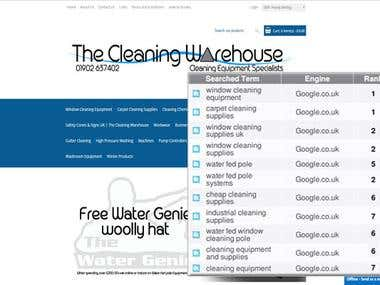 SEO for Cleaning Supplies Site in UK