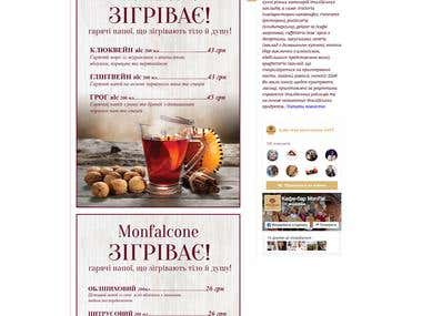 Web site for Cafe Monfalcone