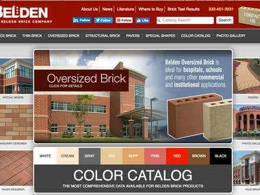 That's what we did for the Belden Brick Company.