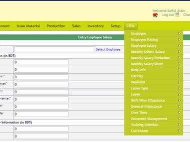 ERP for Factory Management System