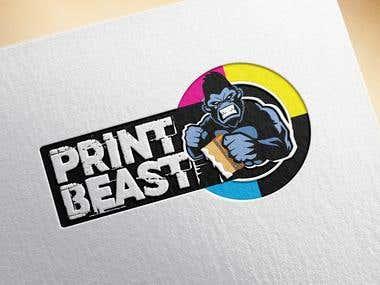 Print Beast Concept Logo Design