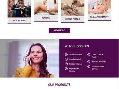 Jyoti Threading Beauty Salon WordPress Website