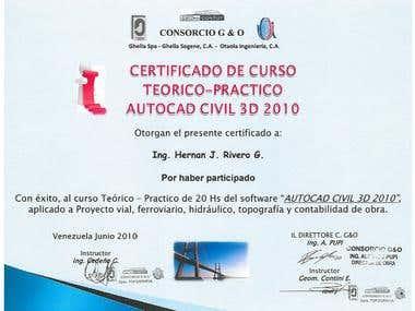 AutoCAD Civil 3D Certificate