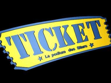 the animation video clip of ticket - le podium des stars