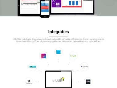e-UUR - Onepage website