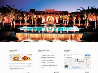 Hotal HTML-5 responsive template