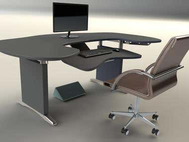 Ergonomic Computer Table