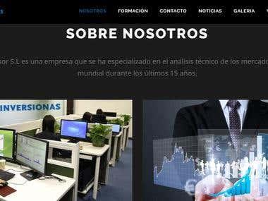 Sitio web  Inversión en Bolsa