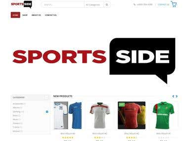 Woocoomerce sports shop(http://shop.sportssidedaily.com/)