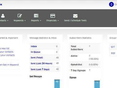 SMS Marketing Web App