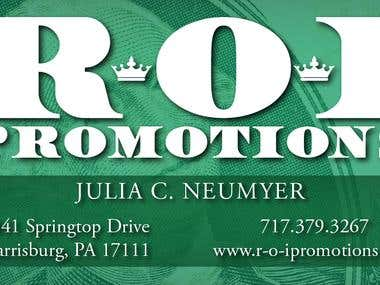 ROI Promotions Business Card