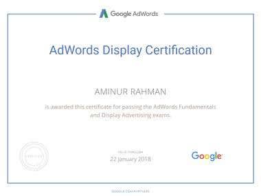 Adwords Display Advertising Certifacte Renewal 2017-18