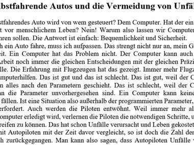 Artikel Schreiben in Deutsch