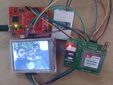 SMS Transmission using Graphics Touch LCD with TI Launchpad