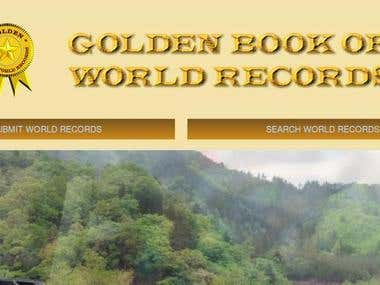 Golden book of world records web based application