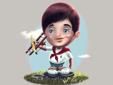 Character design. Illustration for children book. Concept.