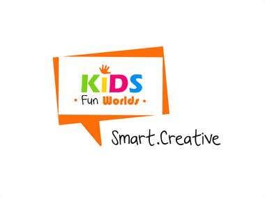 Kids Fun Worlds Logo