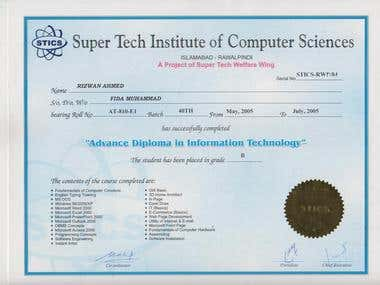 Advance Diploma In Information Technology