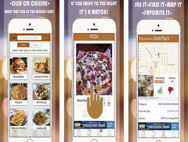 Food swipe ios app