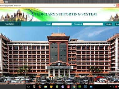 Judiciary Supporting System Website