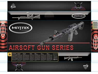 Airsoft Gun packaging design