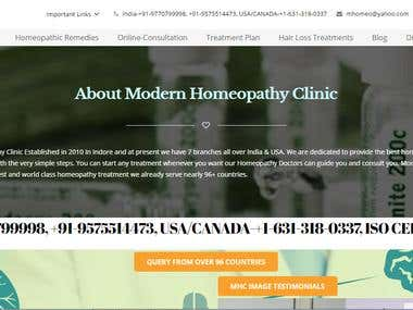 homeopathy treatment web based application
