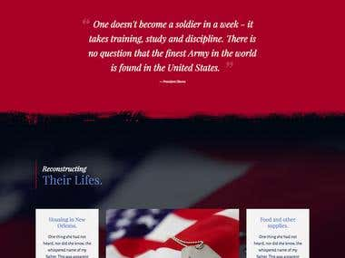 Impactful Design for Veterans Fundraising & Charity