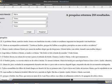 Bíblia Católica em Excel (Idioma Português PT-BR)