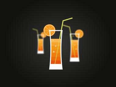 Vector Cocktail Flat Illustration