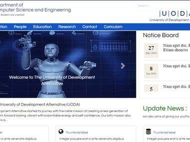 It is a university web-site