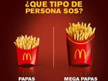 Posteo Facebook McDonald's