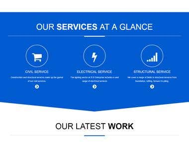 Different services provider's website