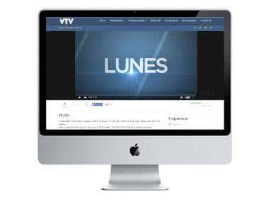 Página Web para VTV