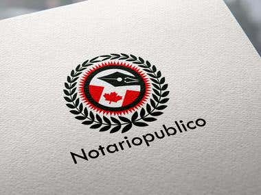 Logo for a notary service website