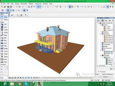 3d house model in Archicad