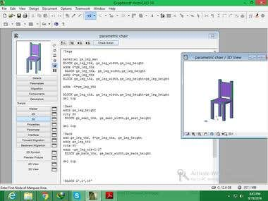parametric 3d model in Archicad