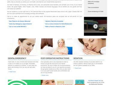 Dental Care Website