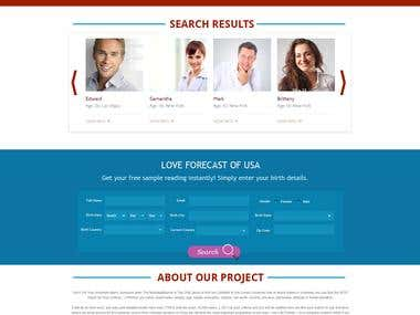 Sample template for a marraige website