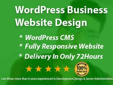 WordPress Business Website Design Services In 72 Hours Only