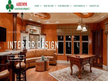 Interior design firm website - india based