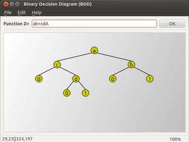 Binary decision diagram with Qt