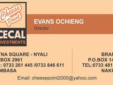 Cecal Investments Business Card