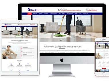 Cleaning & Maintenance Services Website
