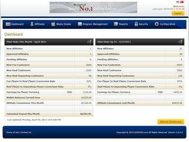 Affiliate gaming ASP.NET MVC AJAX WCF Microsoft SQL Server