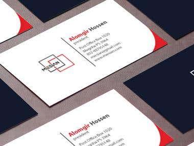 Miesian logo and business card design.