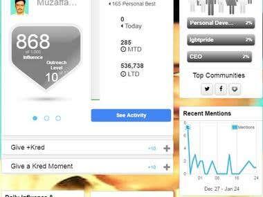 Kred Score | www.muzaffar.kred