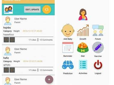BabyCare - Android App