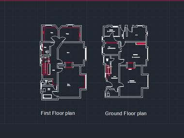 Auto Cad floor plan